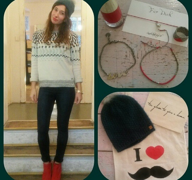 Outfit of the day Motto: rot und grün – voll Weihnachten und so…  WE LOVE @numph_dk @2ndone_official @jute_beutel @gl4lou @zauberhaftshop @evora_official #halloherz #berlin #kastanienallee #nümph #2ndOne #jutebeutel #gl4lou #zauberhaftshop #inadassel #tomshot #evora #ootd #christmas #omg #love