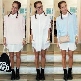 Hallöchen du schöner Nümph Sweater!  Rosa oder hellblau? Hellblau oder rosa?  Das Schöne am Erwachsen sein ist: MAN KANN SICH SO VIELE PULLOVER KAUFEN WIE MAN WILL!!! Huuuuuiiiiii #ootd @numph_dk @softrebels @jute_beutel @lgrworld #halloherz #berlin #kastanienallee #nümph #sweater #softrebels #shirt #blouse #dress #3in1 #jutebeutel #backpack #ifeeldisco #blingberlin #leather #bag #lgr #glasses #braids #docmartens #boots #summer #love