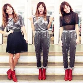 Der neue Samt-Style von @softrebels ist so weich, da will ich den ganzen Tag mit mir selbst kuscheln!  #ootd @wearembym @vagabondshoemakers @klimbimbarcelona #halloherz #berlin #kastanienalle #softrebels #set #velvet #outfit #mbym #skirt #top #mash #seetrough #bralet #lace #vagabond #shoes #leather #redshoes #red #klimbimbarcelona #necklace #handmade #jewelry #style #fashion #shopping #shop #love