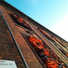 """""""A small act is worth a million thoughts.""""  """"Ich meine, wenn wir aufgeben, dann sind wir Teil des Verbrechens.""""  Ai Weiwei #halloherz #berlin #kastanienallee #aiweiwei #soleillevant #soleil #refugees #refugeeswelcome #wakeup #art #politicalart #streetart #artist #urban #urbanart #copenhagen #denmark #nyhavn #picoftheday #makelovenotwar #love"""