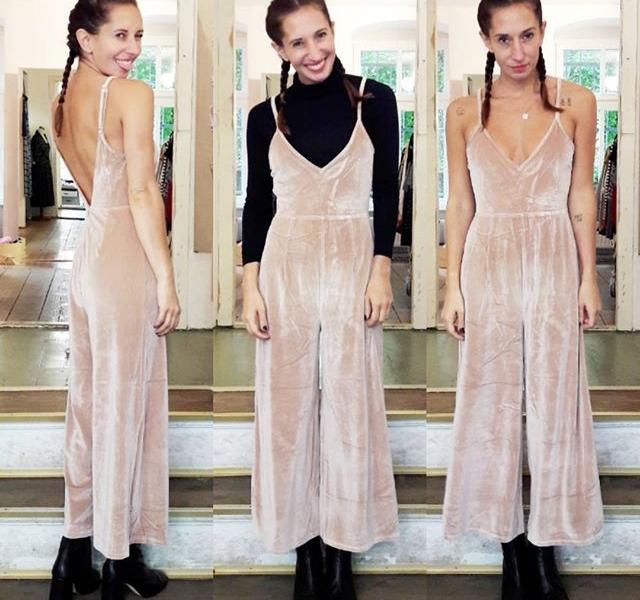 Hallöchen, du wunderschöner @official_minkpink Jumpsuit, möchtest du mich heitaten?  Pullover von @wearembym Kette von @klimbimbarcelona Schuhe von @topshop #halloherz #berlin #kastanienallee #ootd #minkpink #jumpsuit #velvet #lowback #turtleneck #culotte #necklace #handmade #jewelry #klimbim #klimbimbarcelona #braids #boxerbraids #topshop #booties #style #fashion #shopping #fashiongoals #monday #happy #happymonday #woman #love