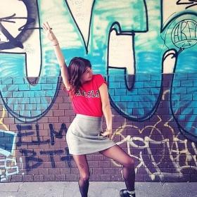 WHOOOPWHOOOP  The HUSTLE Shirt is back!!!  Und mein neustes Lieblingsteil: der Karo-Rock von @globalfunk  #halloherz #berlin #kastanienallee #mbym #hustle #globalfunk #skirt #glencheck #girlpower #girlboss #style #fashion #shopping #girls #fashiongoals #love #liebe #grafitti #streetstyle #streetart #urban #ootd #urbanart