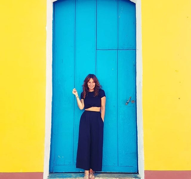 TRiNiDAD #ootd @official_minkpink  #halloherz #berlin #kastanienallee #minkpink #cuba #trinidad #trinidadcuba #travel #travelgram #colour #yellow #blue #black #sun #sunshine #mood #holidays #girlpower #girlboss #style #fashion #shopping #girls #fashiongoals #love #liebe